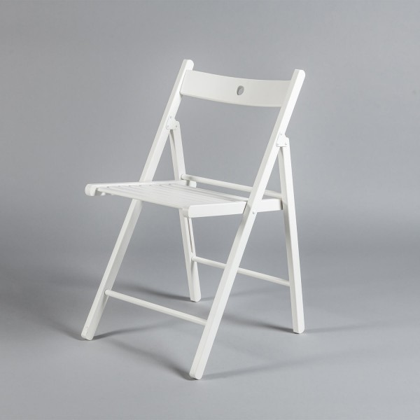 Stuhl <i>(Holz, weiß, klappbar)</i>