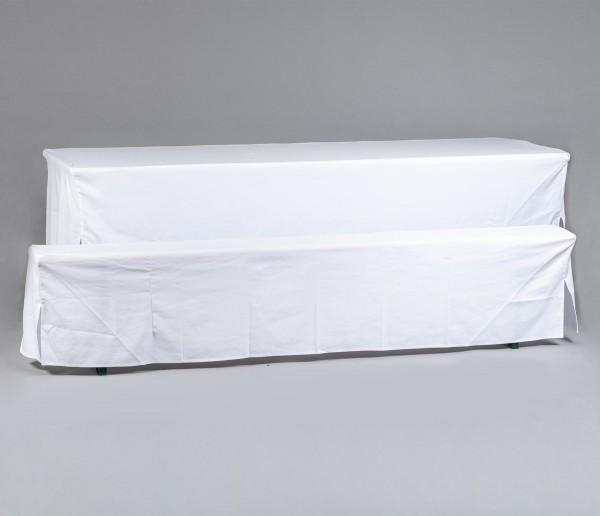 Biertischgarniturhussen-Set bestehend aus 1 Tischhusse und 2 Bankhussen (für 70 cm Tisch und 25 cm Bank)
