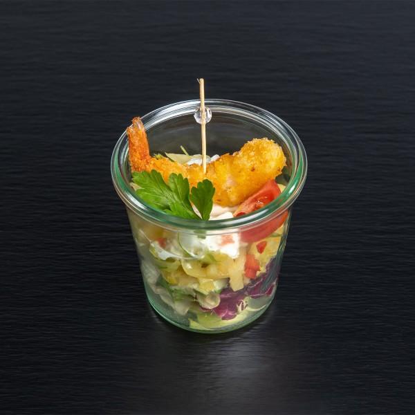 Fenchel-Orangensalat mit Knuspergarnele